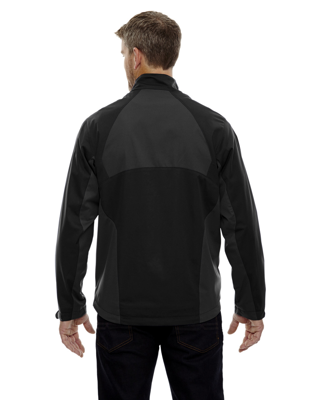 Black-back 88656 North End Sport Red Laminated Performance Stretch Wind Shirt
