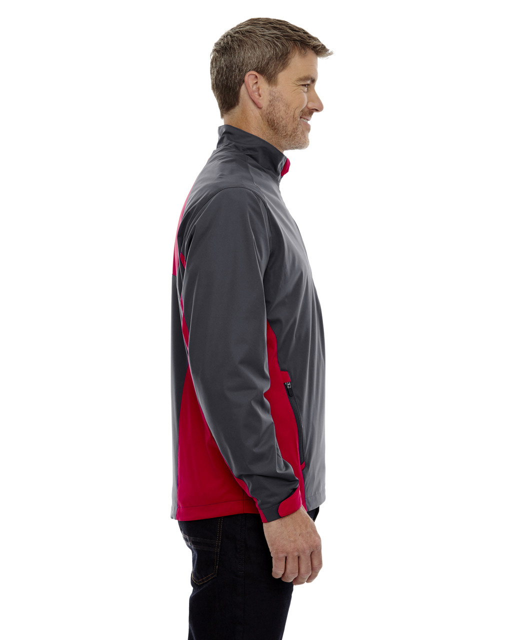 Black Silk-side 88656 North End Sport Red Laminated Performance Stretch Wind Shirt