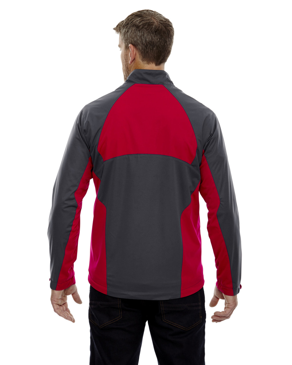 Black Silk-back 88656 North End Sport Red Laminated Performance Stretch Wind Shirt