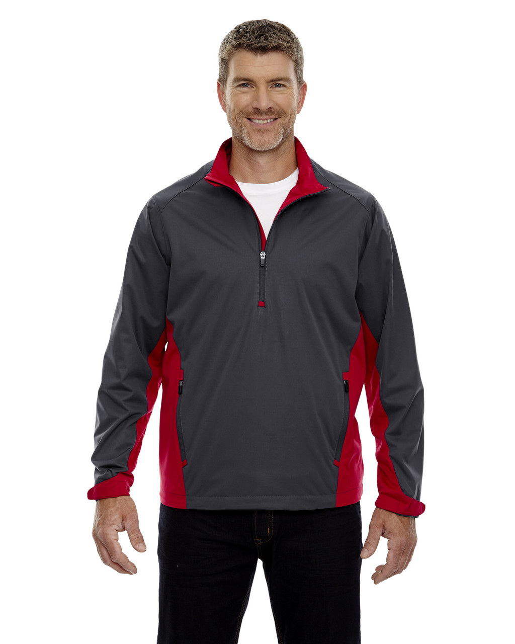 Black Silk - 88656 North End Sport Red Laminated Performance Stretch Wind Shirt
