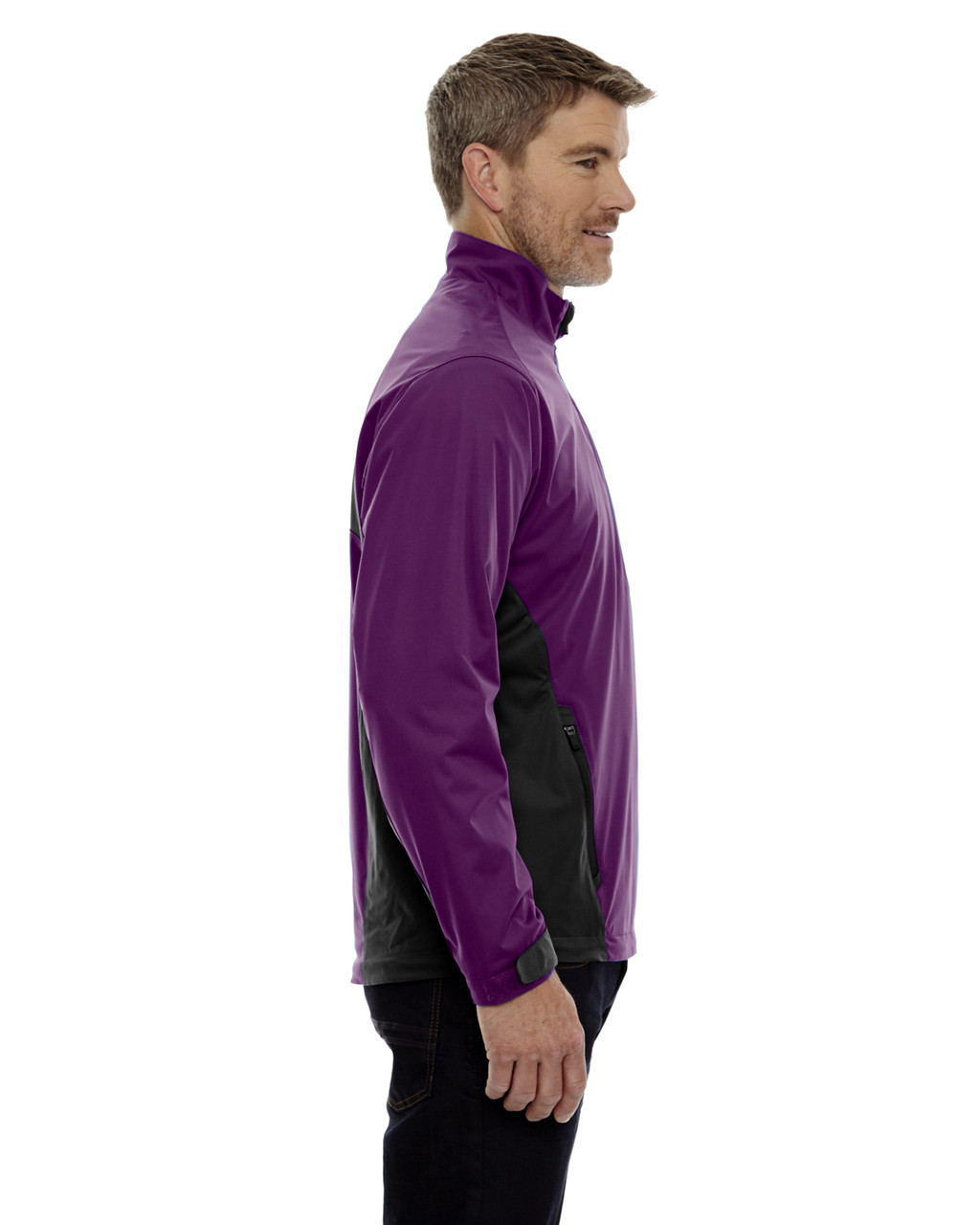 Mulberry Purple-side 88656 North End Sport Red Laminated Performance Stretch Wind Shirt