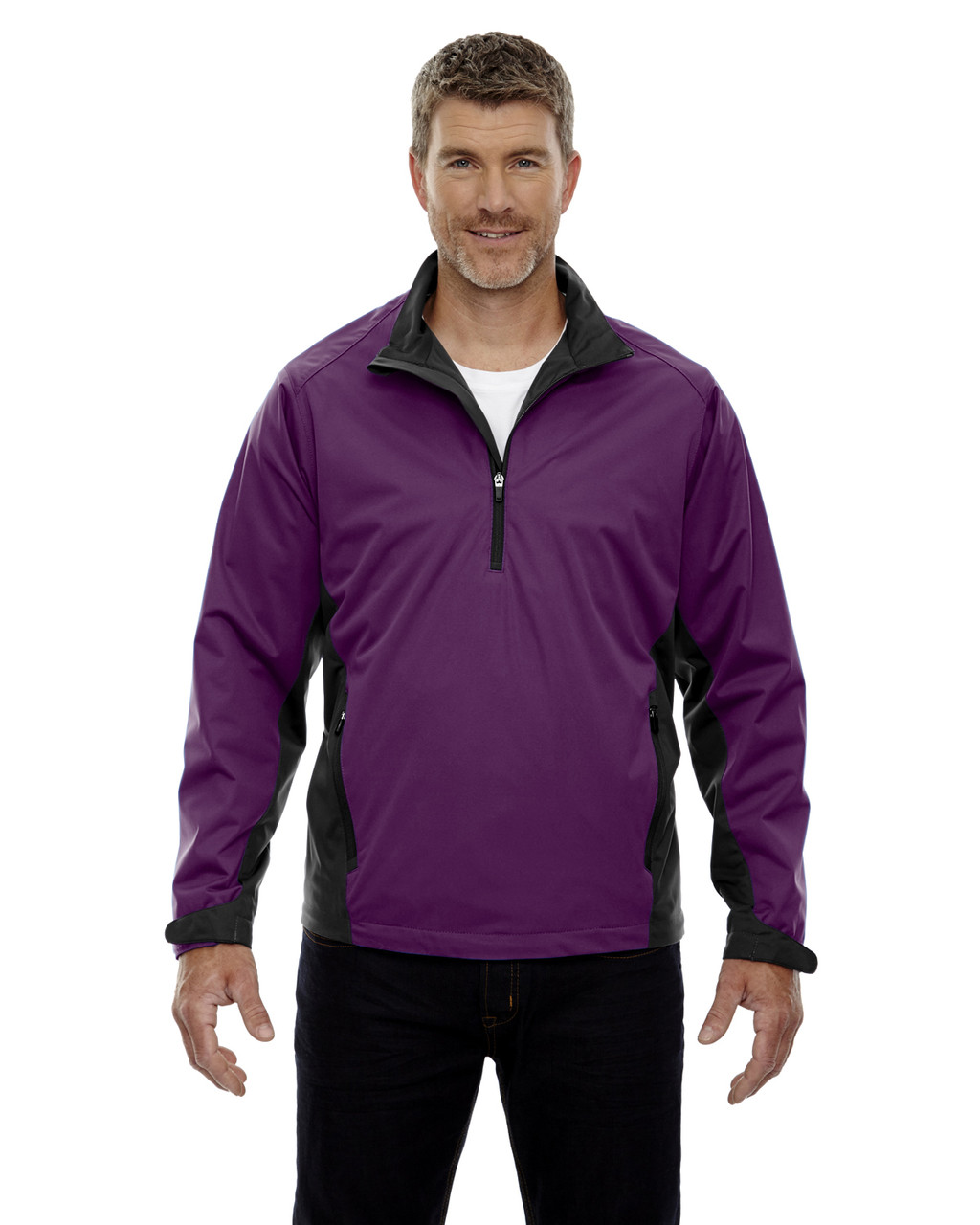 Mulberry Purple - 88656 North End Sport Red Laminated Performance Stretch Wind Shirt