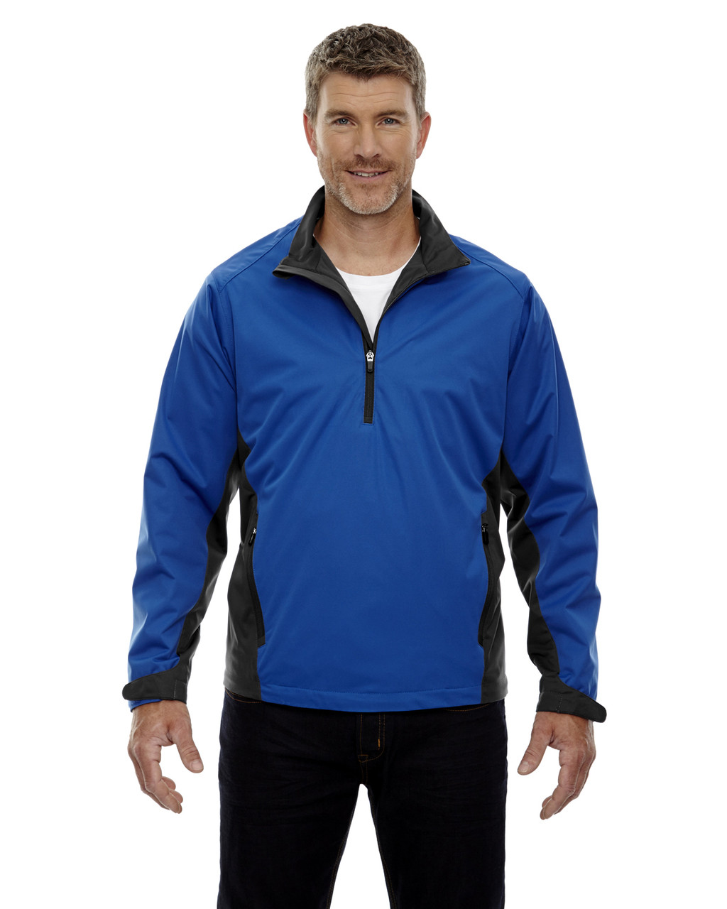Nautical Blue - 88656 North End Sport Red Laminated Performance Stretch Wind Shirt