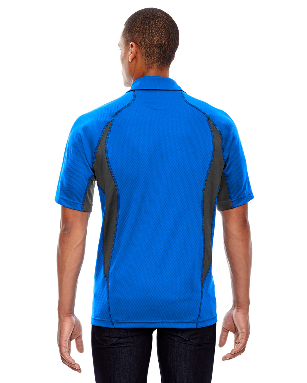 Olympic Blue - Back, 88657 North End Sport Red Serac UTK Performance Zippered Polo Shirt