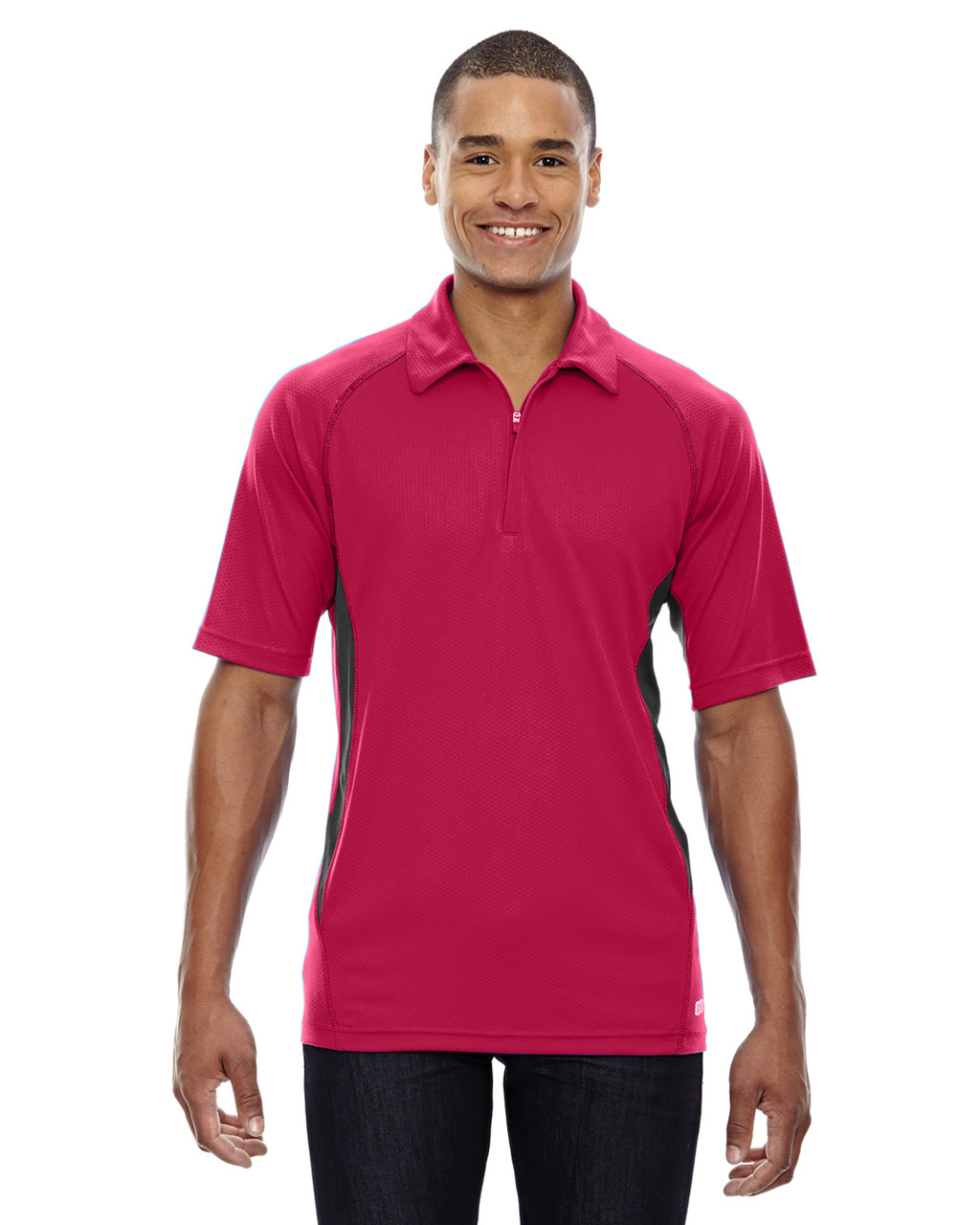 Olympic Red - 88657 North End Sport Red Serac UTK Performance Zippered Polo Shirt