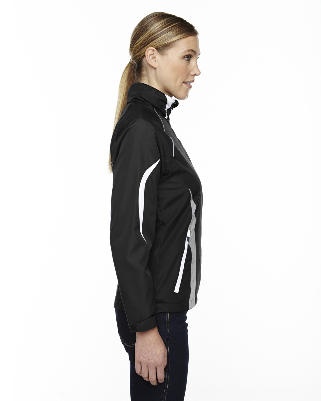 Black - Side, 78644 North End Sport Red Impact Active Lite Colourblock Jacket