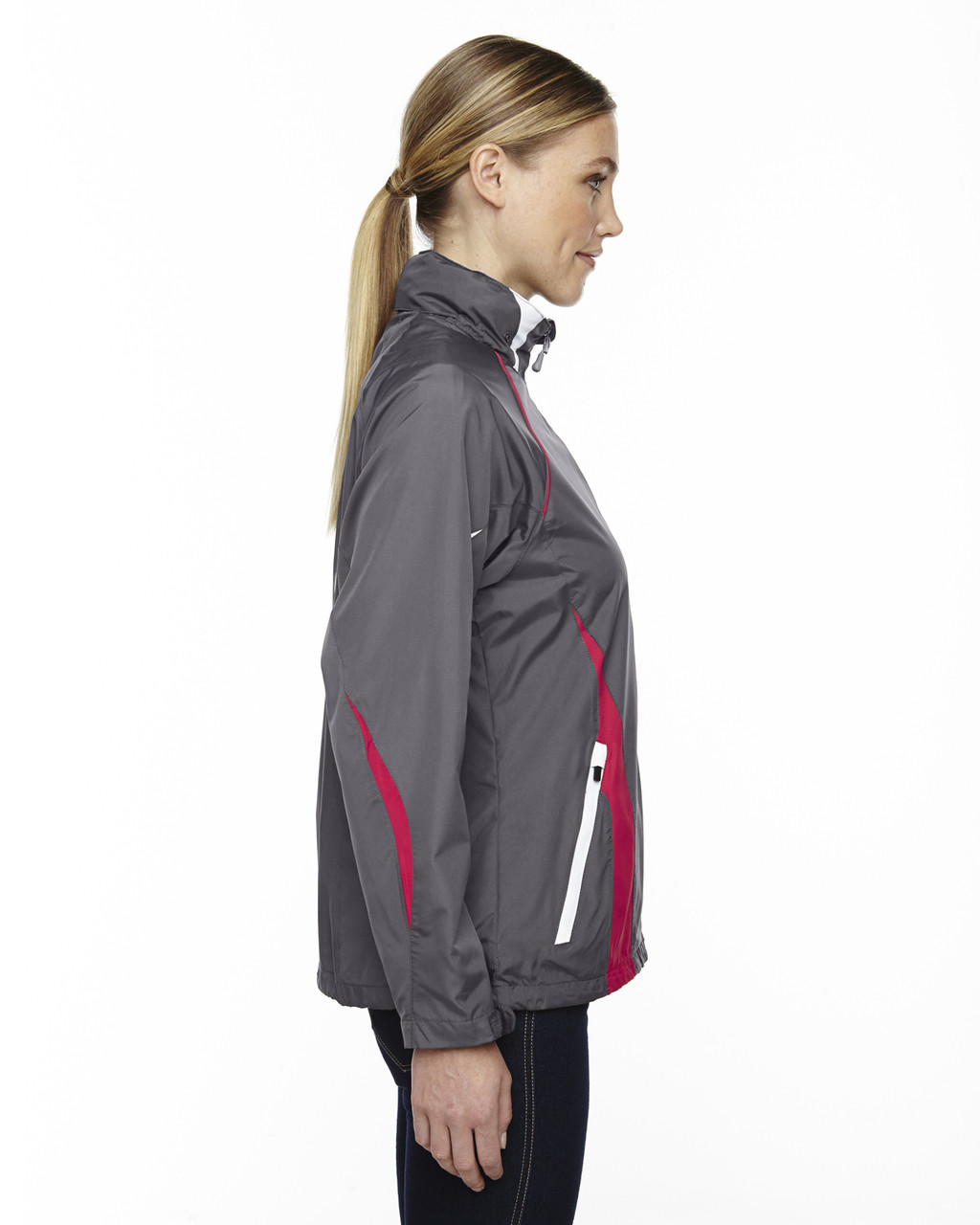 Black/Silk - Side, 78644 North End Sport Red Impact Active Lite Colourblock Jacket