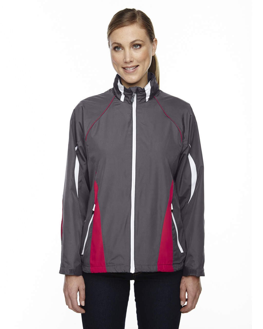 Black/Silk 78644 North End Sport Red Impact Active Lite Colourblock Jacket