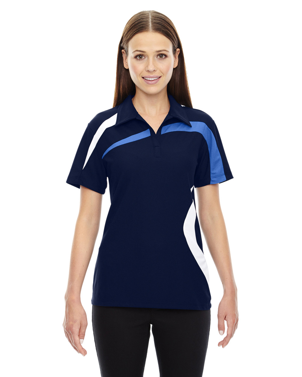Night - 78645 North End Sport Red Impact Performance Polyester Colourblock Polo Shirt