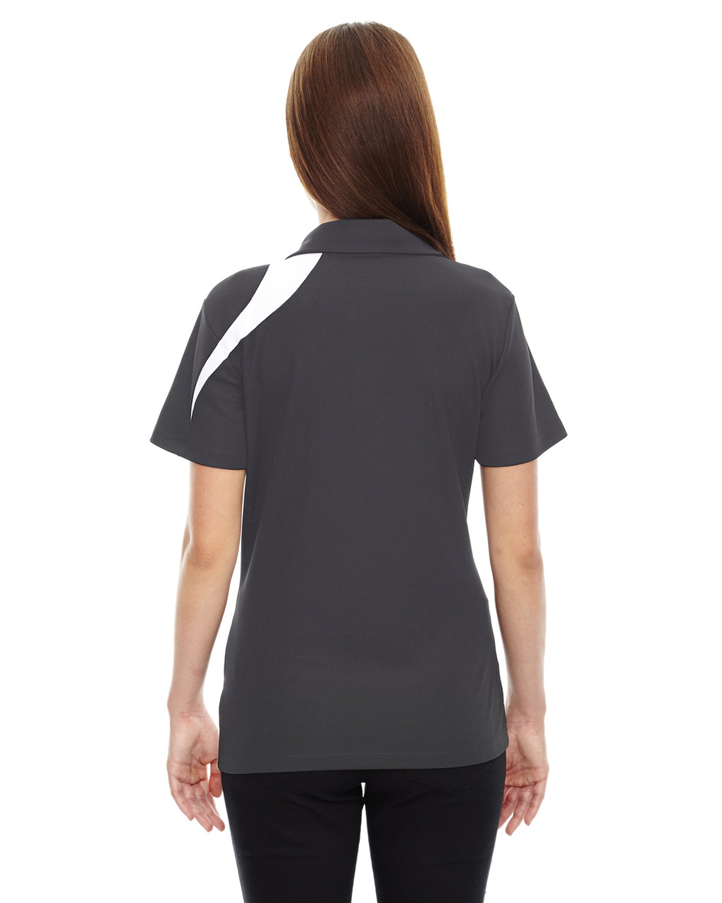 Black/Silk - Back, 78645 North End Sport Red Impact Performance Polyester Colourblock Polo Shirt