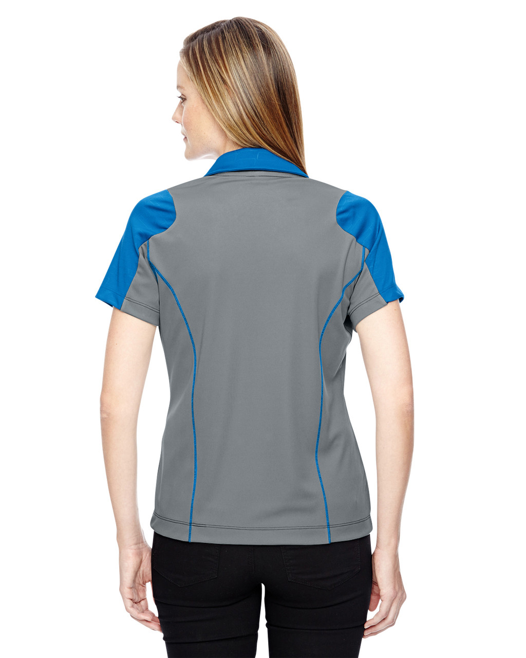 Olympic Blue-back 78691 North End Sport Red Reflex UTK Performance Embossed Print Polo Shirt