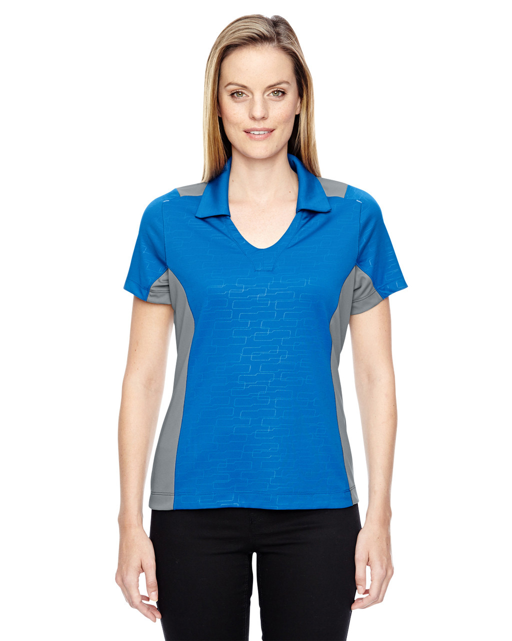 Olympic Blue - 78691 North End Sport Red Reflex UTK Performance Embossed Print Polo Shirt