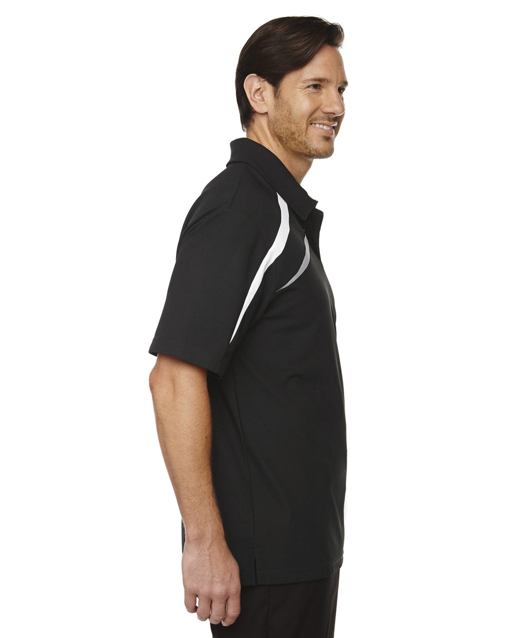 Black-side 88645 North End Sport Red Impact Performance Polyester Colourblock Polo Shirt