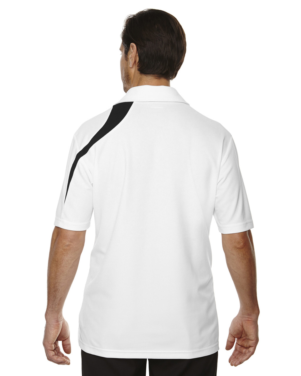 White-back 88645 North End Sport Red Impact Performance Polyester Colourblock Polo Shirt