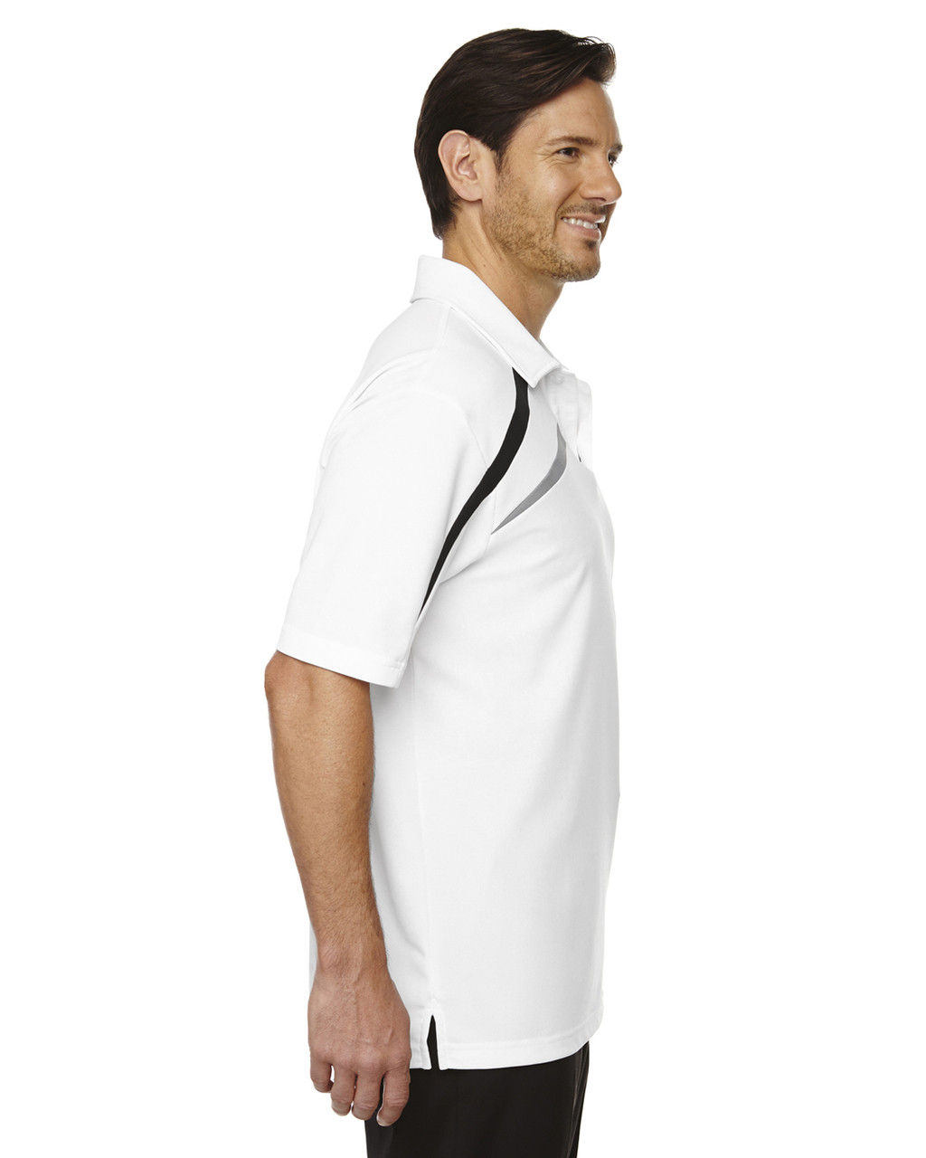 White-side 88645 North End Sport Red Impact Performance Polyester Colourblock Polo Shirt