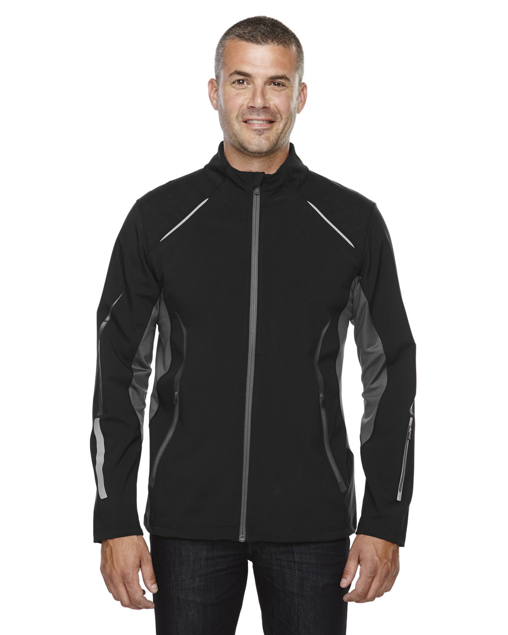 Black - 88678 North End Sport Red Pursuit Light Bonded Hybrid Soft Shell Jacket