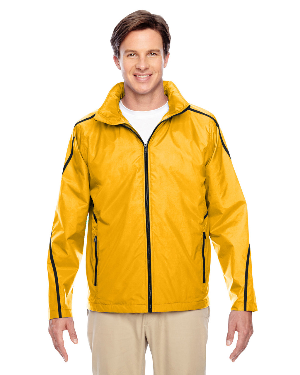 Sport Athletic Gold TT72 Team 365 Conquest Jacket with Fleece Lining