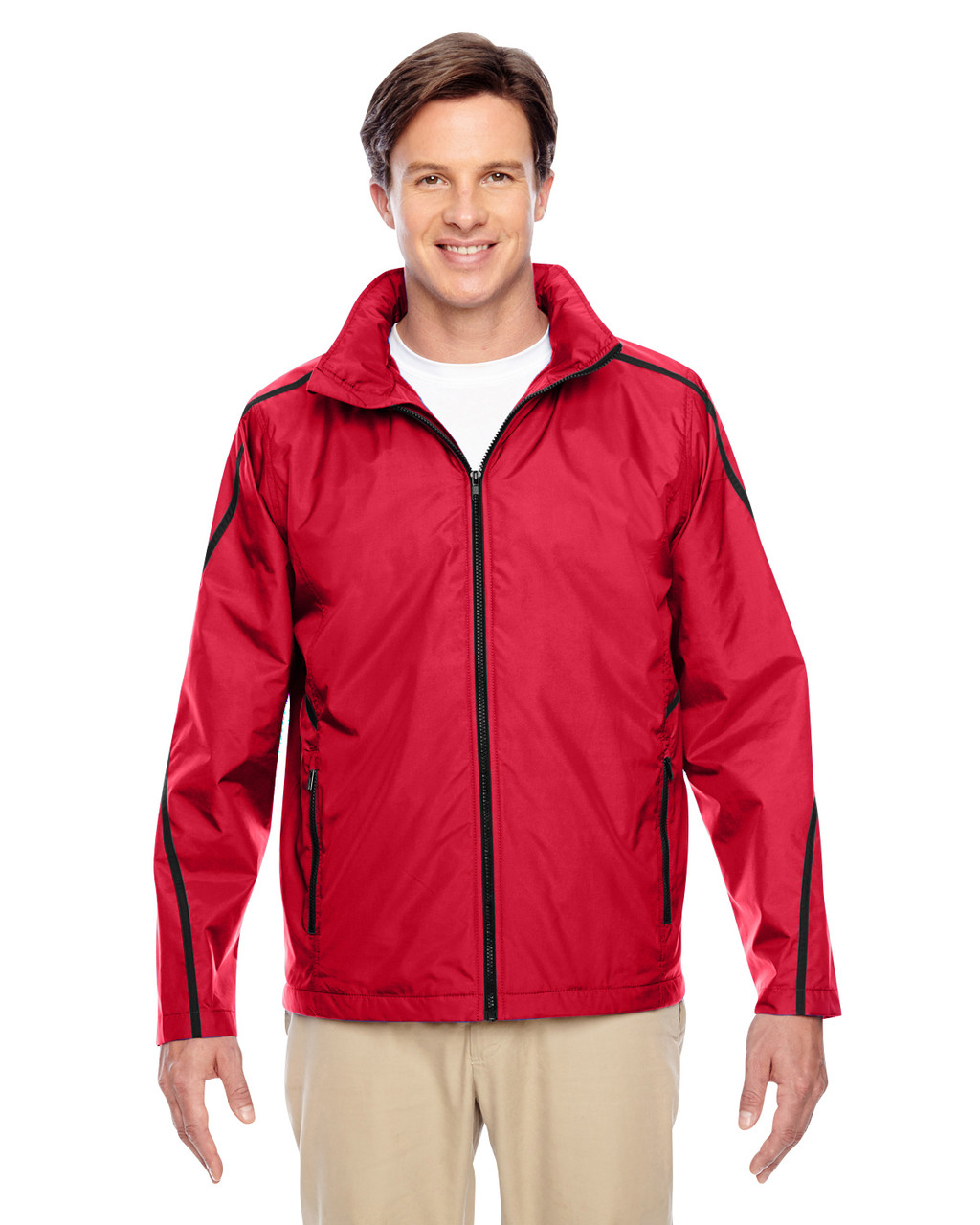Sport Red - TT72 Team 365 Conquest Jacket with Fleece Lining | BlankClothing.ca