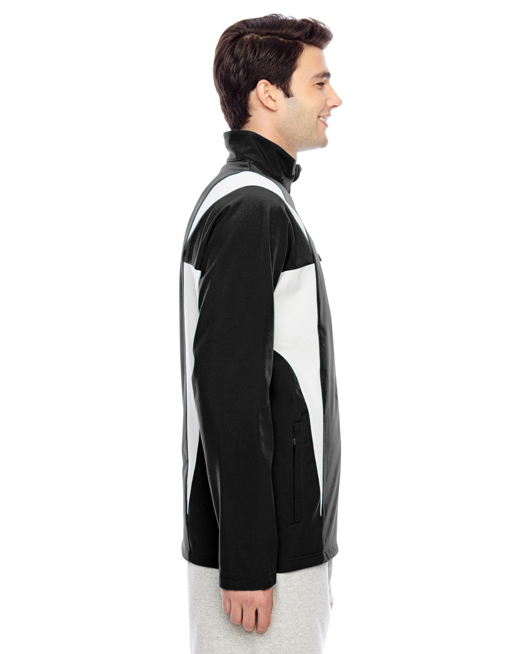 Black/Sport Silver - Side, TT82 Team 365 Icon Colourblock Soft Shell Jacket  | BlankClothing.ca