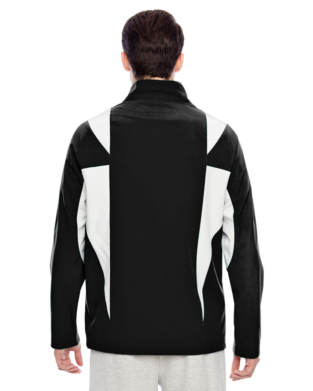 Black/Sport Silver - Back, TT82 Team 365 Icon Colourblock Soft Shell Jacket  | BlankClothing.ca