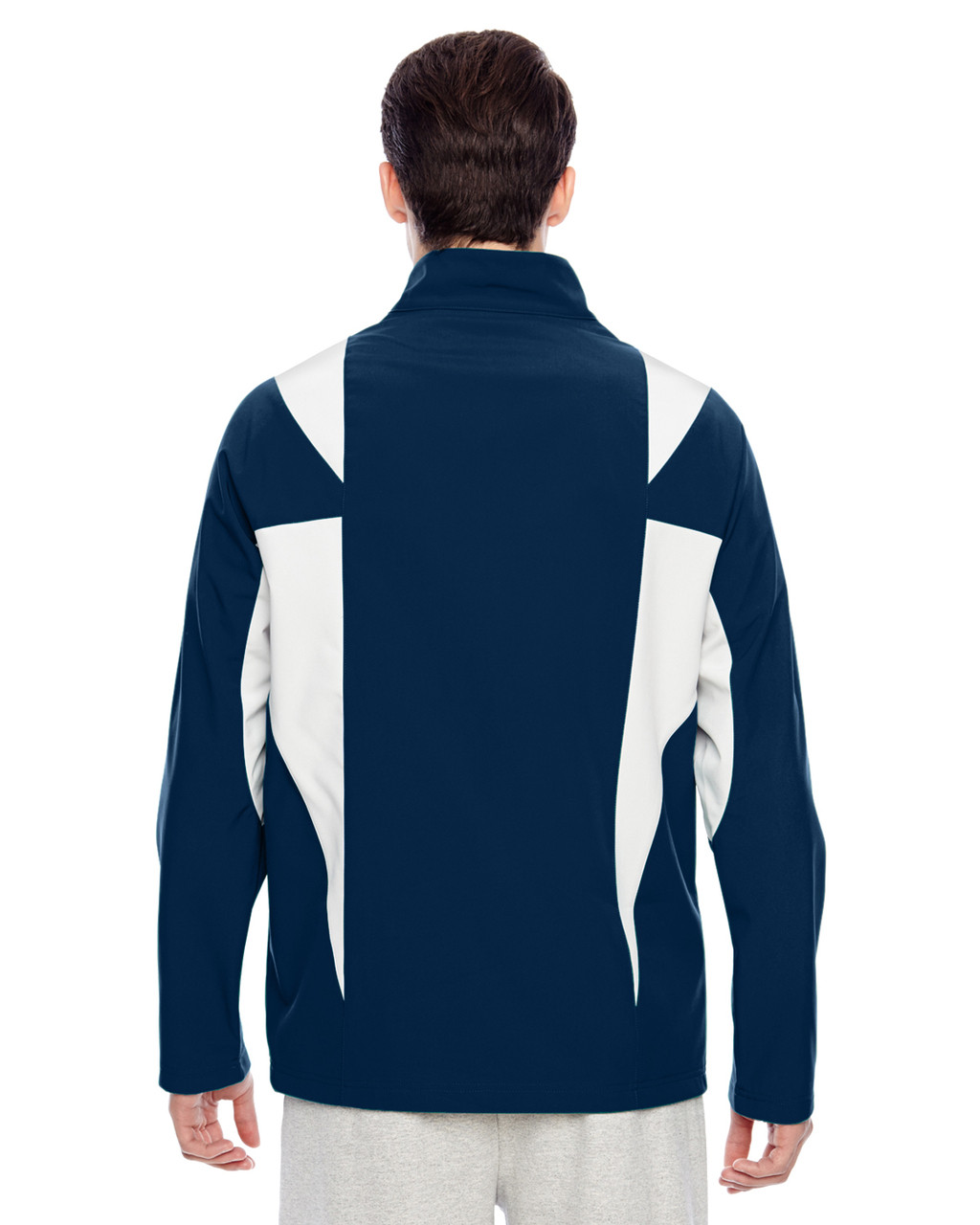 Sport Dark Navy/Sport Silver - Back, TT82 Team 365 Icon Colourblock Soft Shell Jacket  | BlankClothing.ca