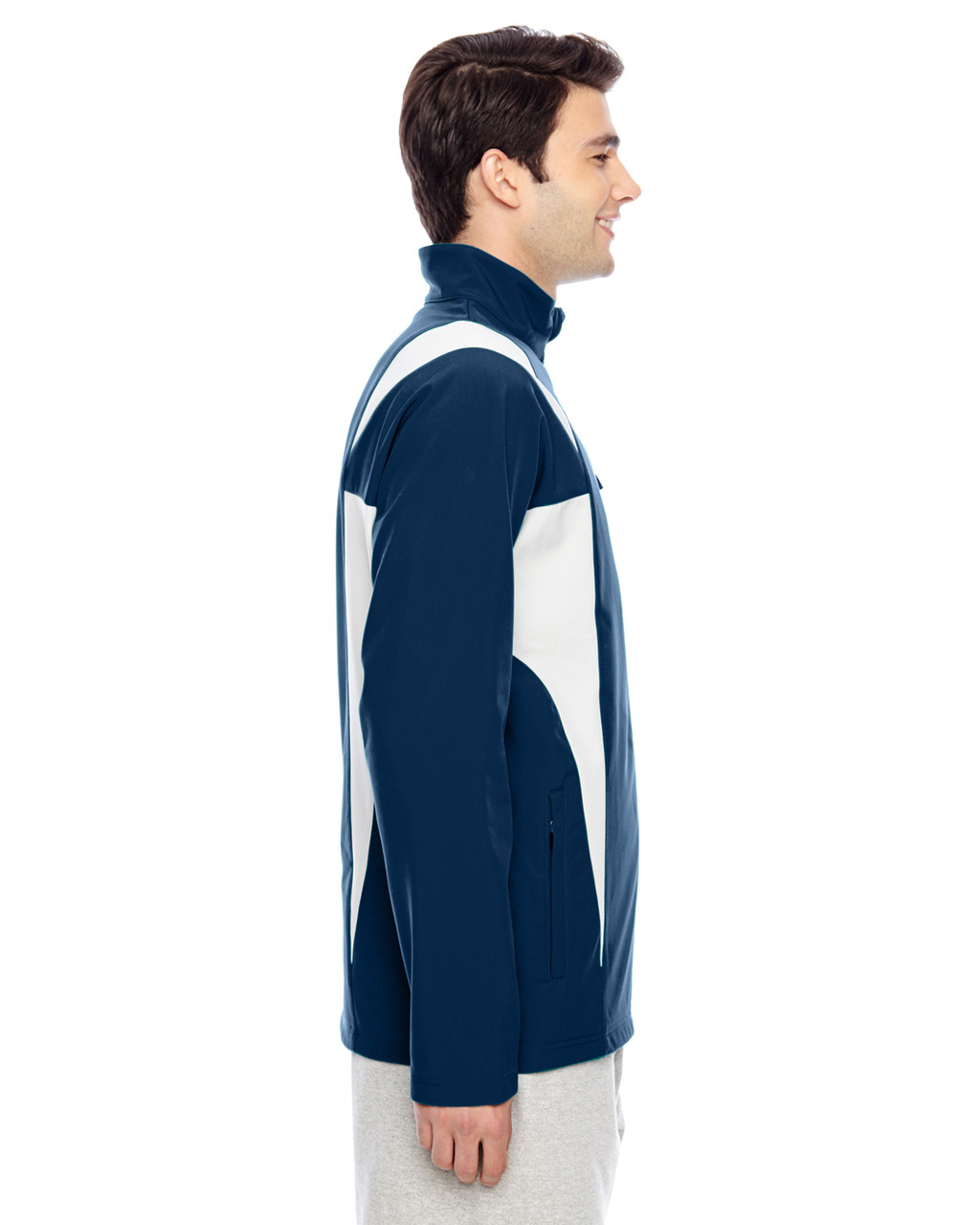 Sport Dark Navy/Sport Silver - Side, TT82 Team 365 Icon Colourblock Soft Shell Jacket  | BlankClothing.ca