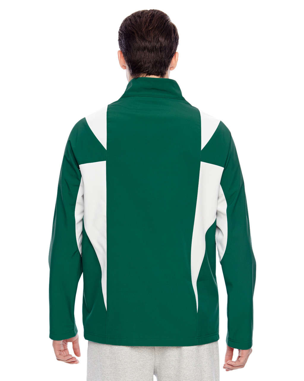 Sport Forest/Sport Silver - Back, TT82 Team 365 Icon Colourblock Soft Shell Jacket  | BlankClothing.ca