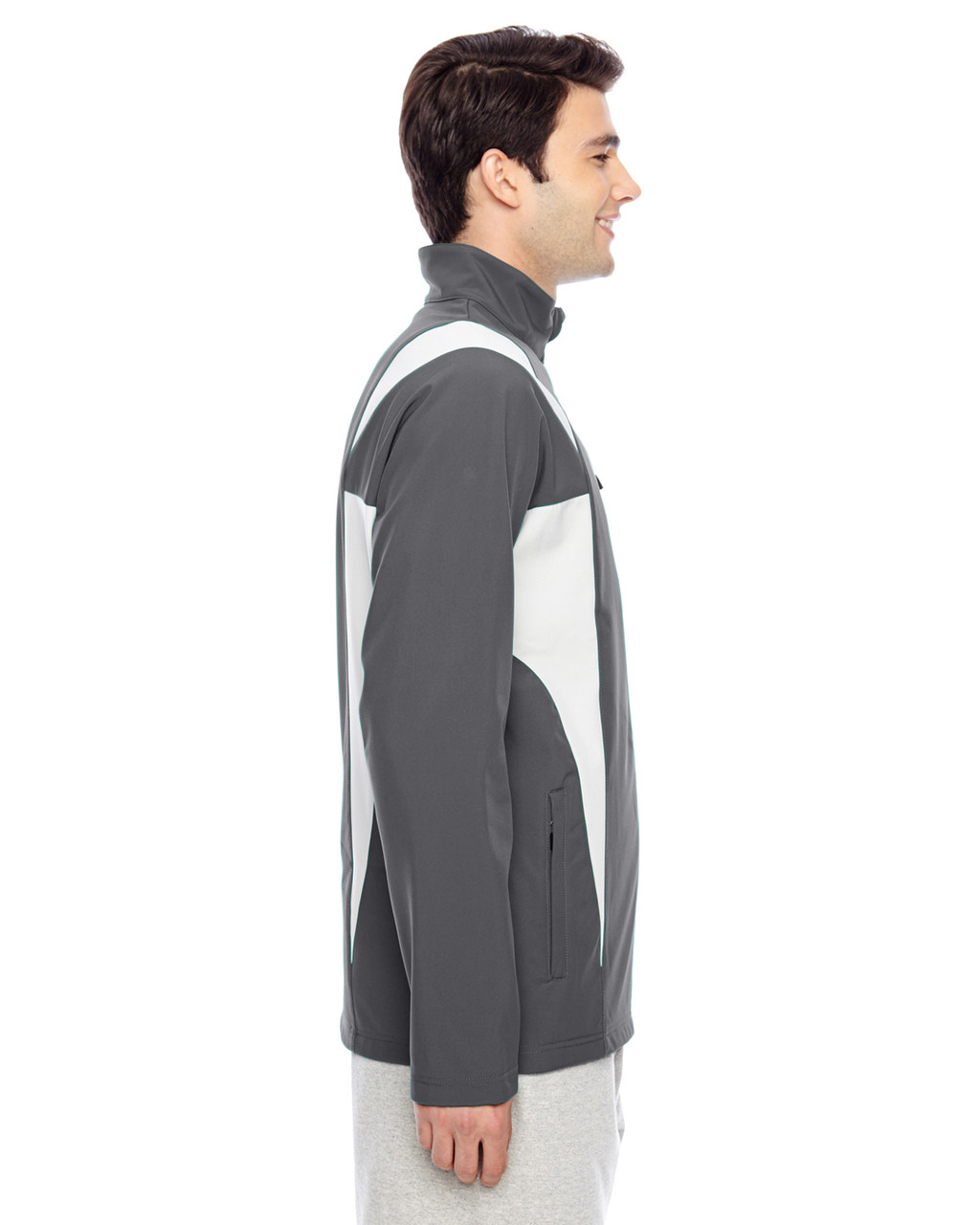 Sport Graphite/Sport Silver - Side, TT82 Team 365 Icon Colourblock Soft Shell Jacket  | BlankClothing.ca