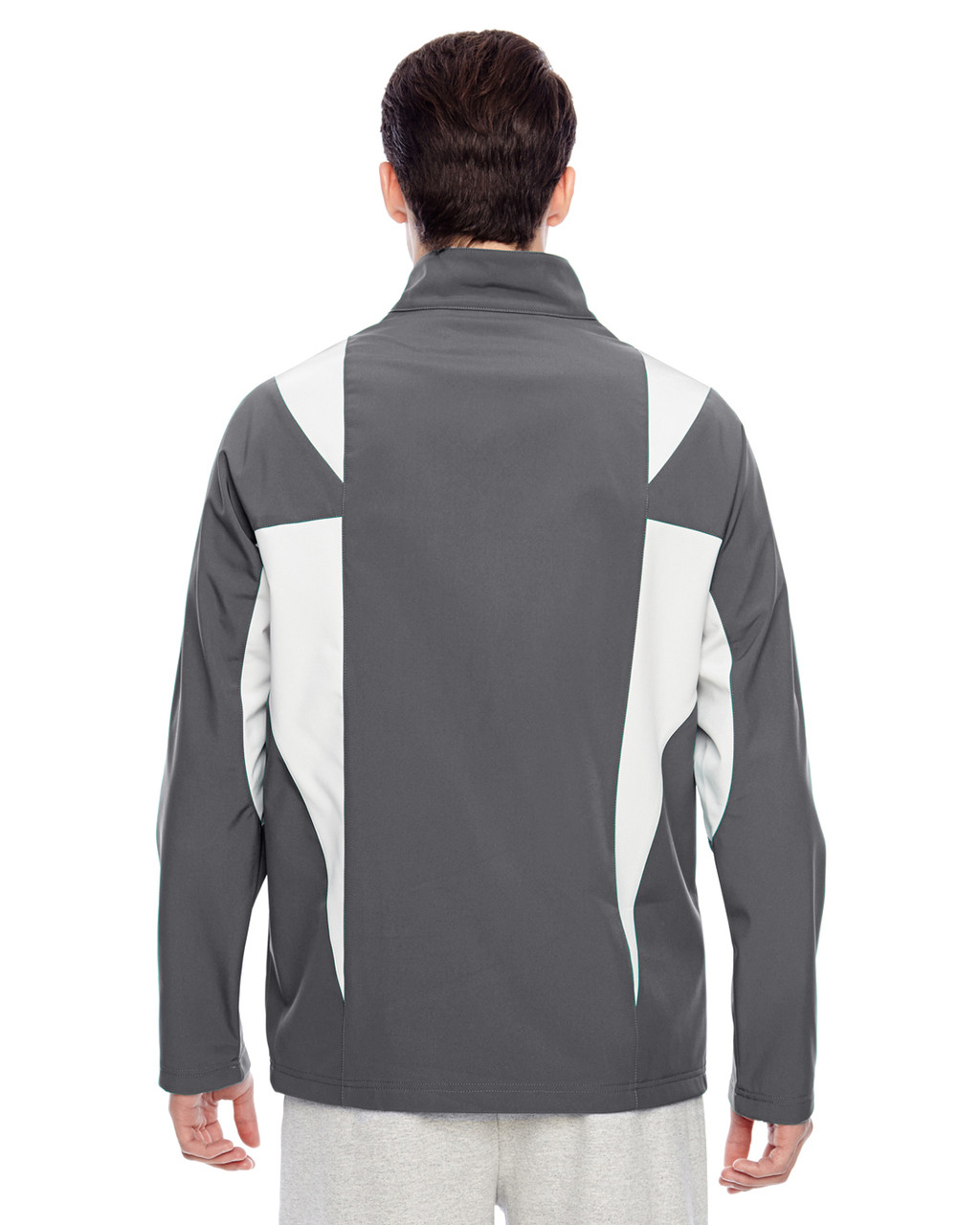 Sport Graphite/Sport Silver - Back, TT82 Team 365 Icon Colourblock Soft Shell Jacket  | BlankClothing.ca