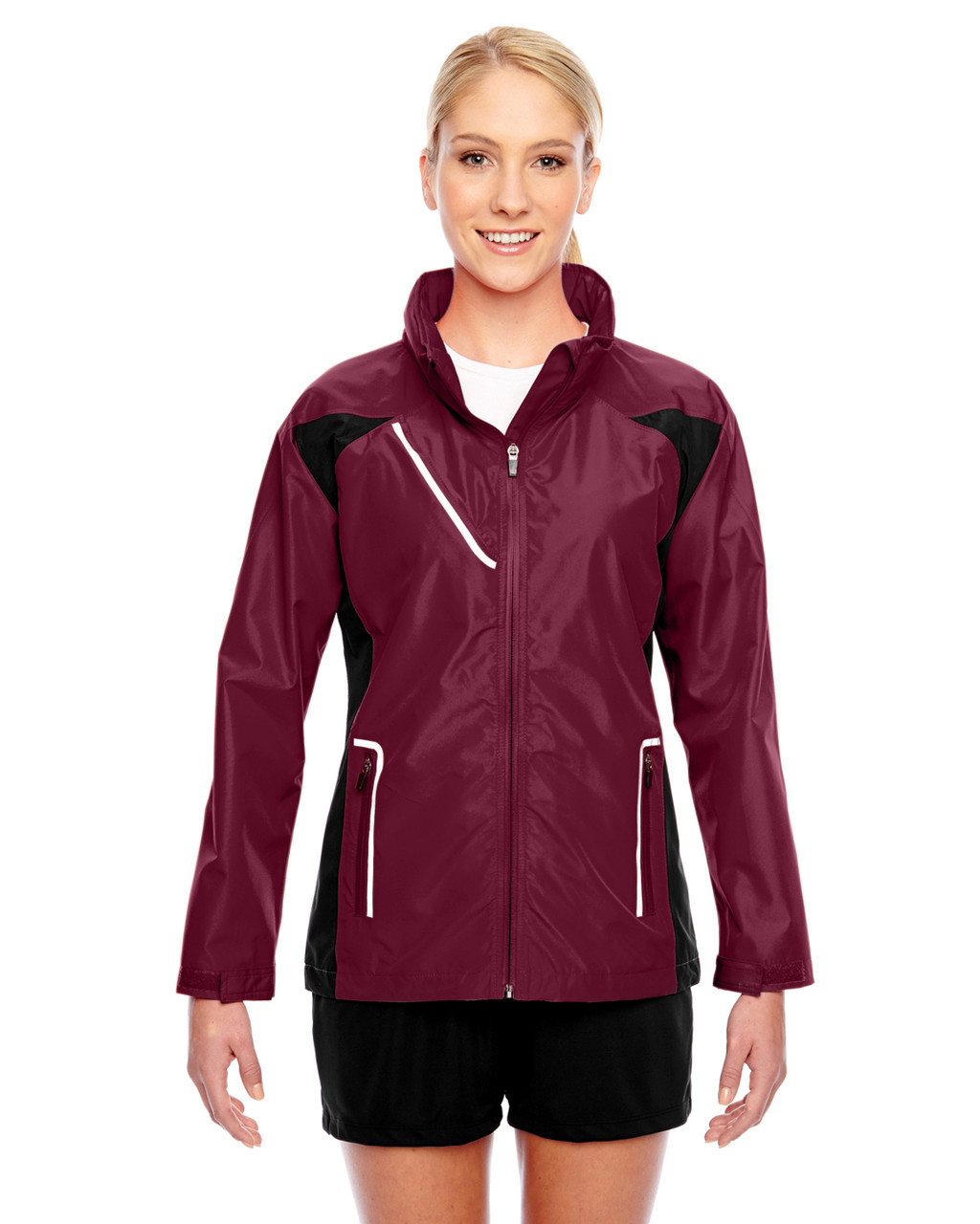 Sport Maroon - TT86W Team 365 Dominator Waterproof Jacket