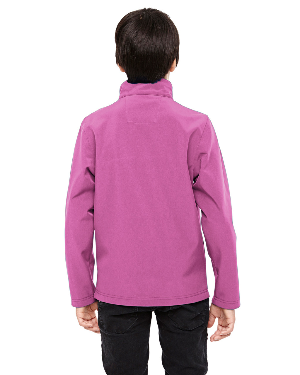 Sport Charity Pink - Back, TT80Y Team 365 Youth Leader Soft Shell Jacket | BlankClothing.ca