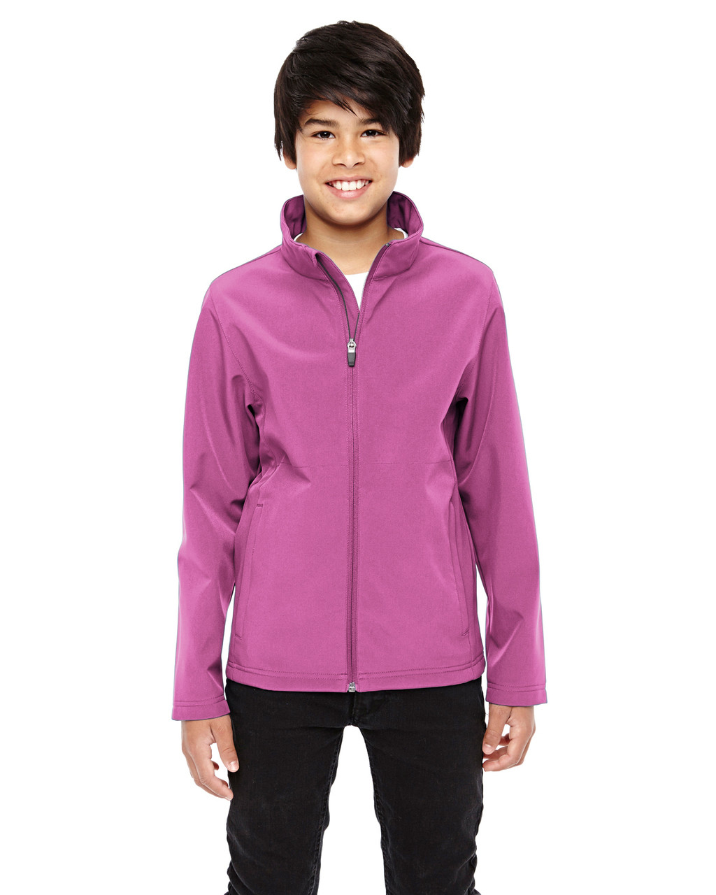 Sport Charity Pink  - TT80Y Team 365 Youth Leader Soft Shell Jacket | BlankClothing.ca