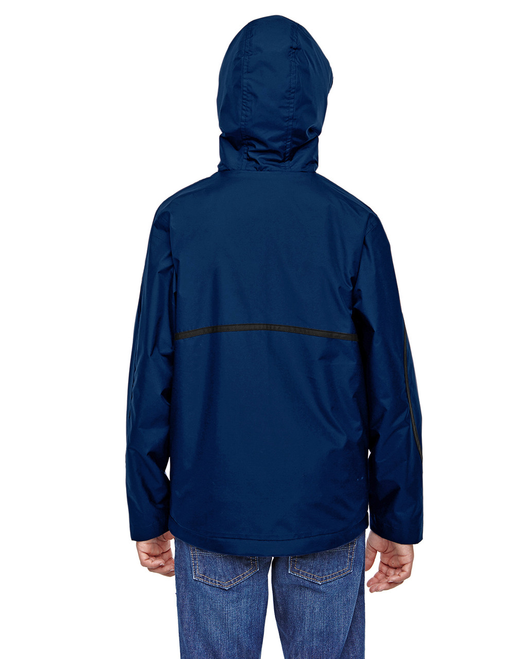 Sport Dark Navy-back TT72Y Team 365 Conquest Jacket with Fleece Lining
