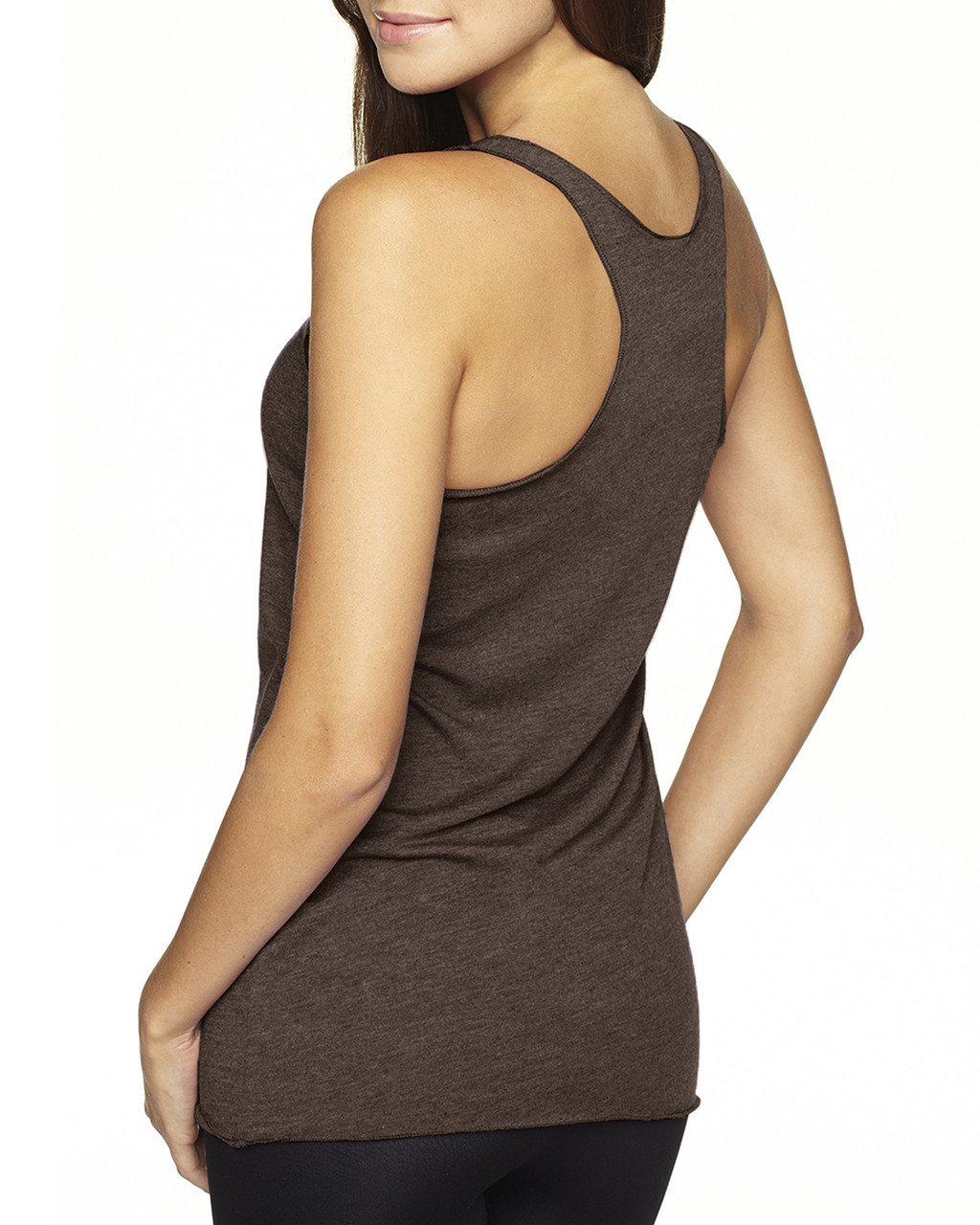 Macchiato-back 6733 Next Level Tri-Blend Racerback Tank Top | Blankclothing.ca