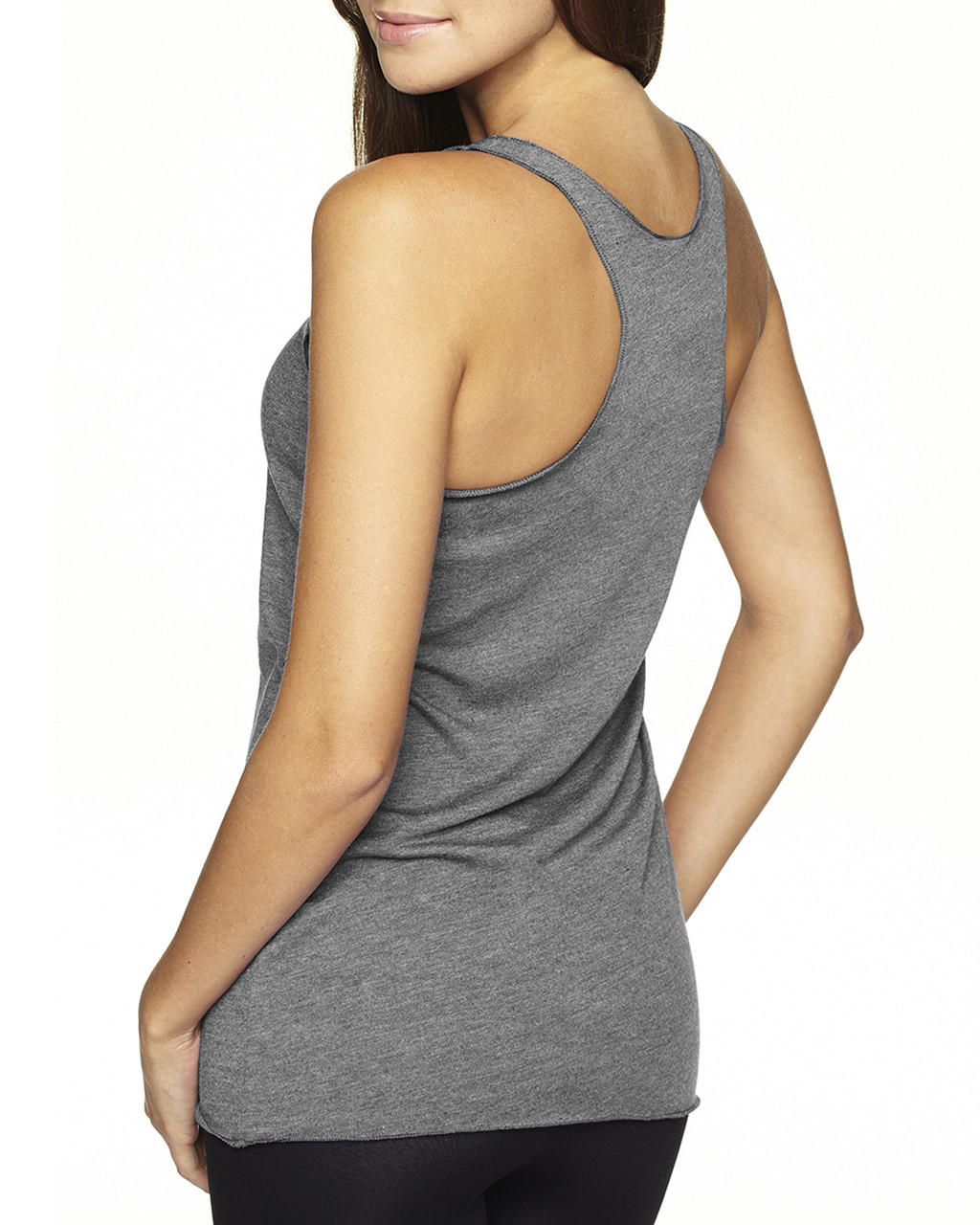 Premium Heather-back 6733 Next Level Tri-Blend Racerback Tank Top | Blankclothing.ca