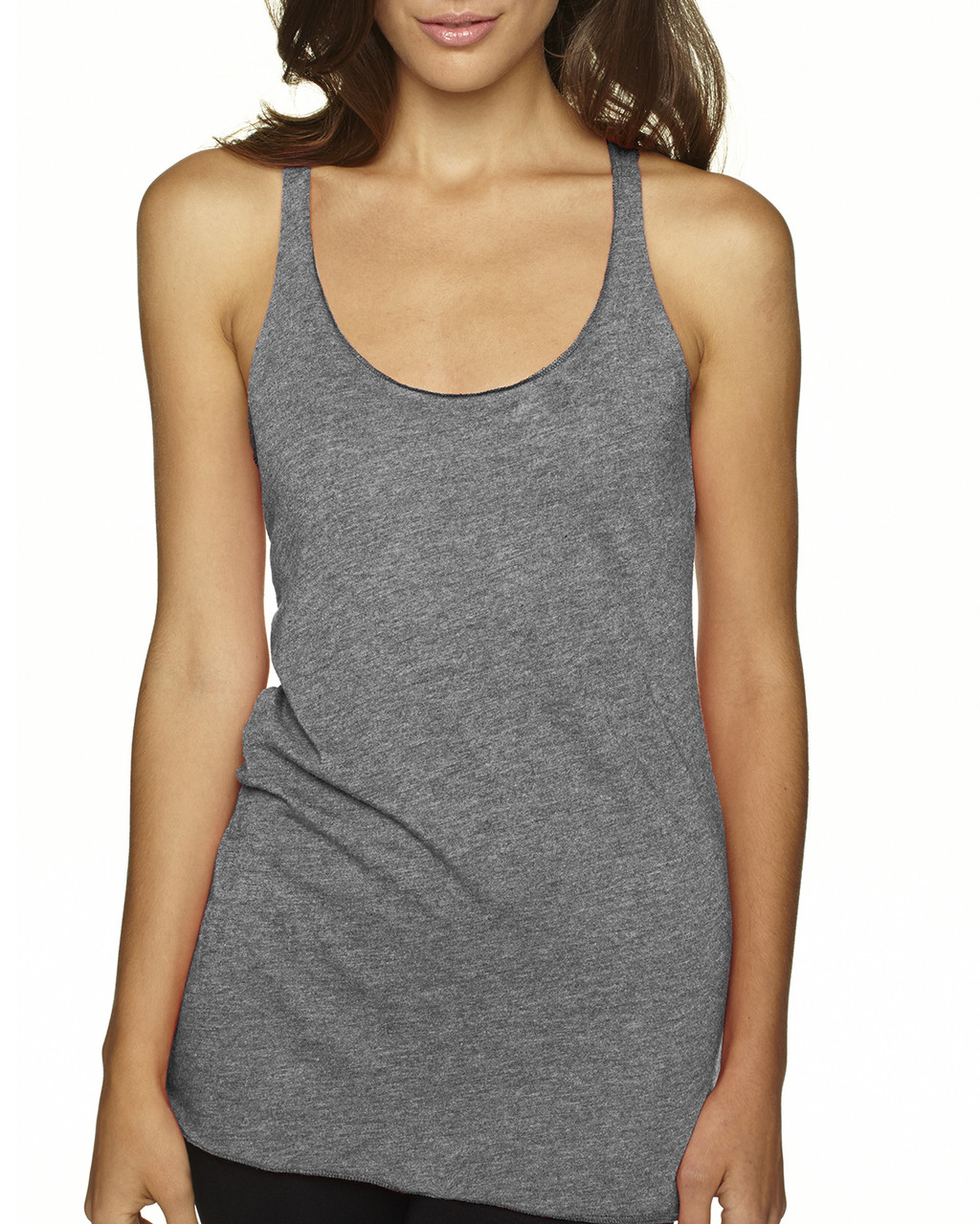 Premium Heather - 6733 Next Level Tri-Blend Racerback Tank Top | Blankclothing.ca