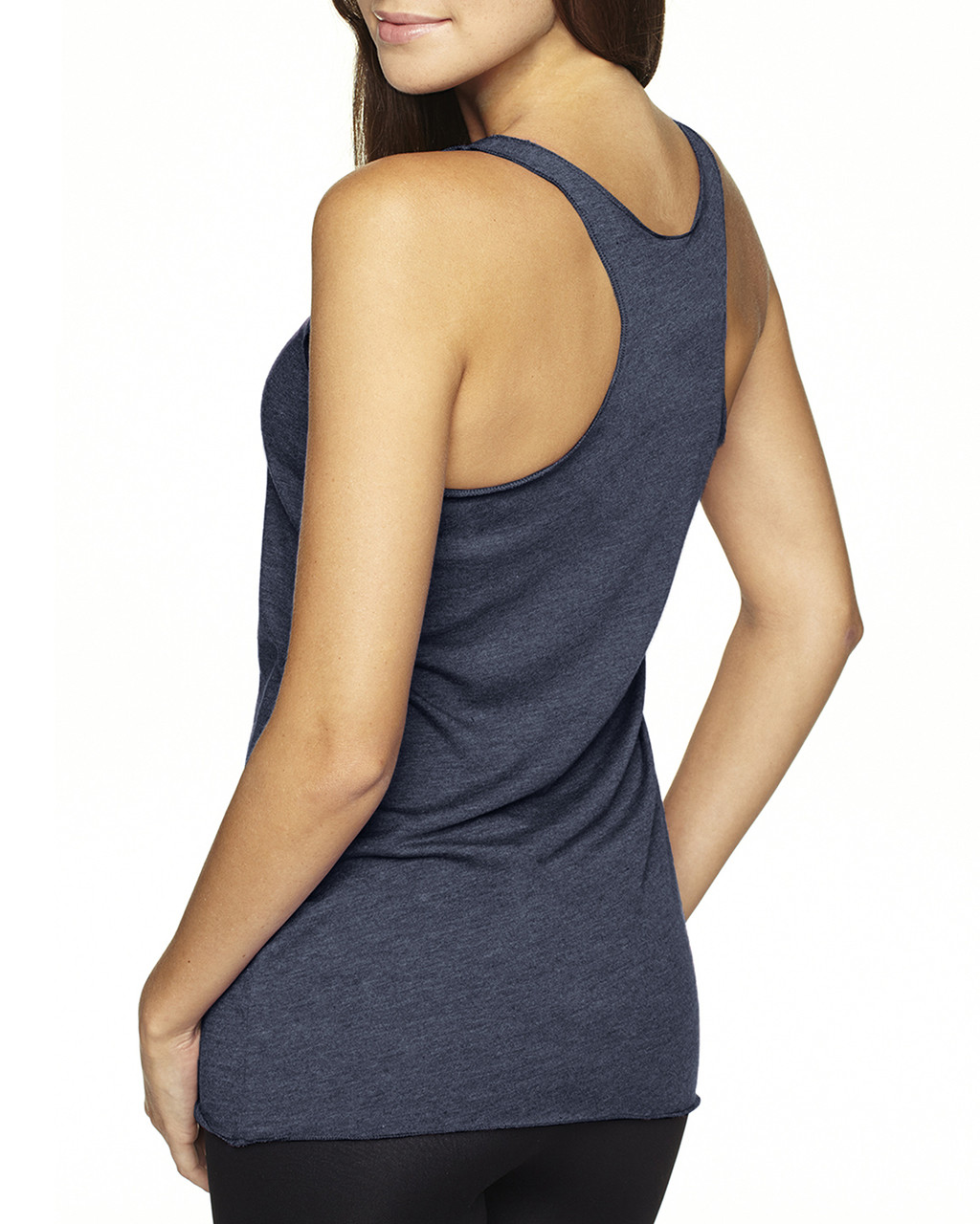 Vintage Navy-back 6733 Next Level Tri-Blend Racerback Tank Top | Blankclothing.ca