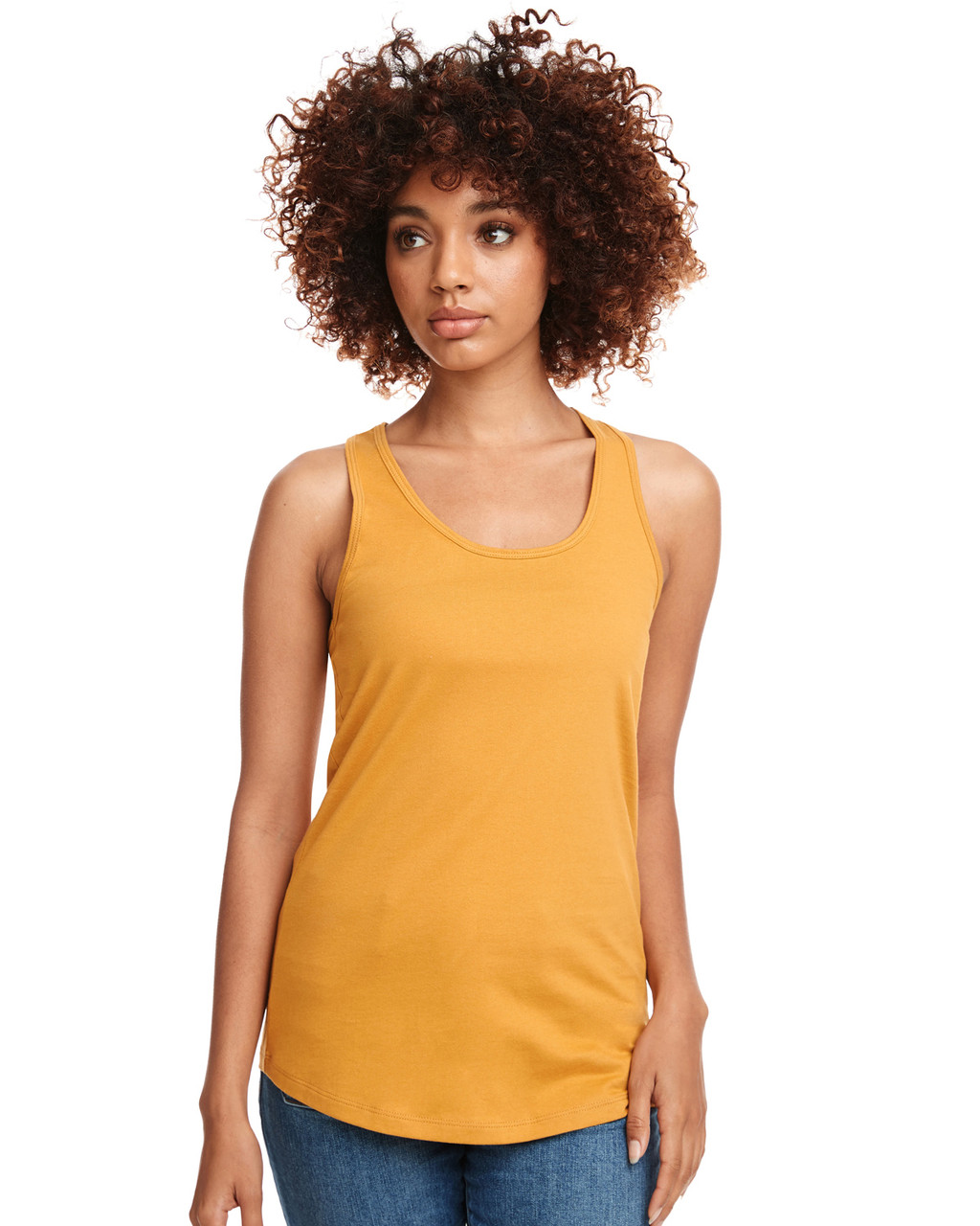 Antique Gold - N1533 Next Level Ideal Racerback Tank Top | Blankclothing.ca