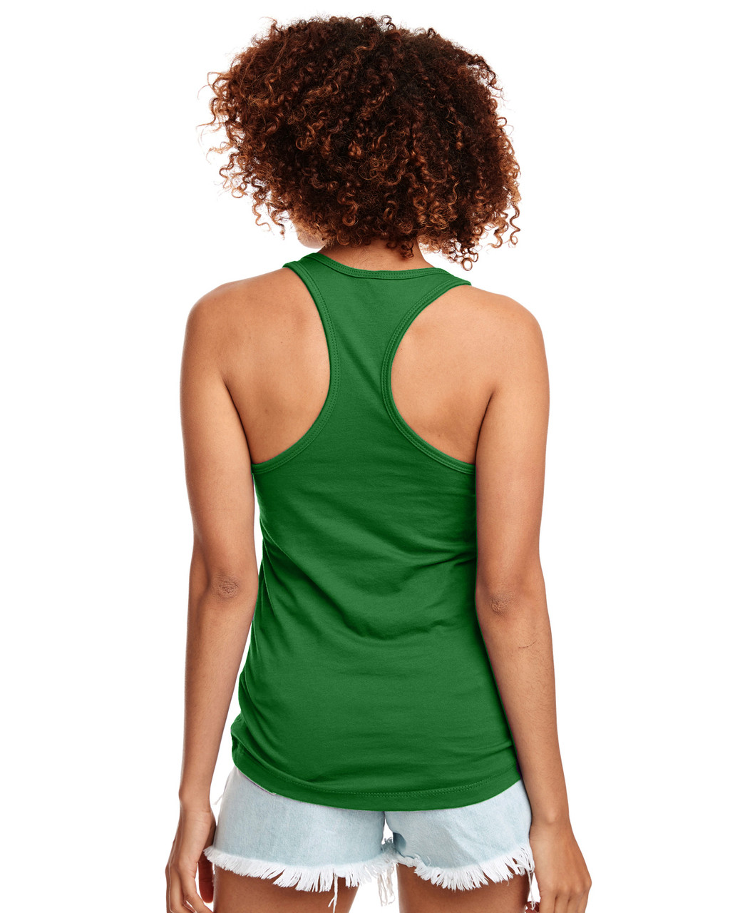 Kelly Green - Back, N1533 Next Level Ideal Racerback Tank Top | Blankclothing.ca