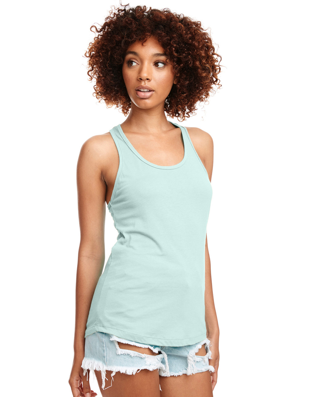 Mint - N1533 Next Level Ideal Racerback Tank Top | Blankclothing.ca