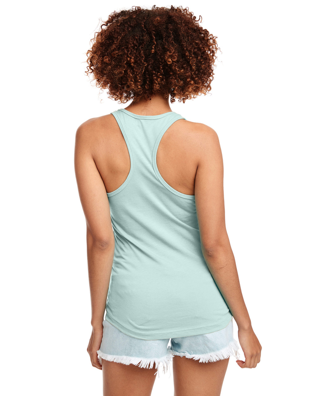 Mint - Back, N1533 Next Level Ideal Racerback Tank Top | Blankclothing.ca