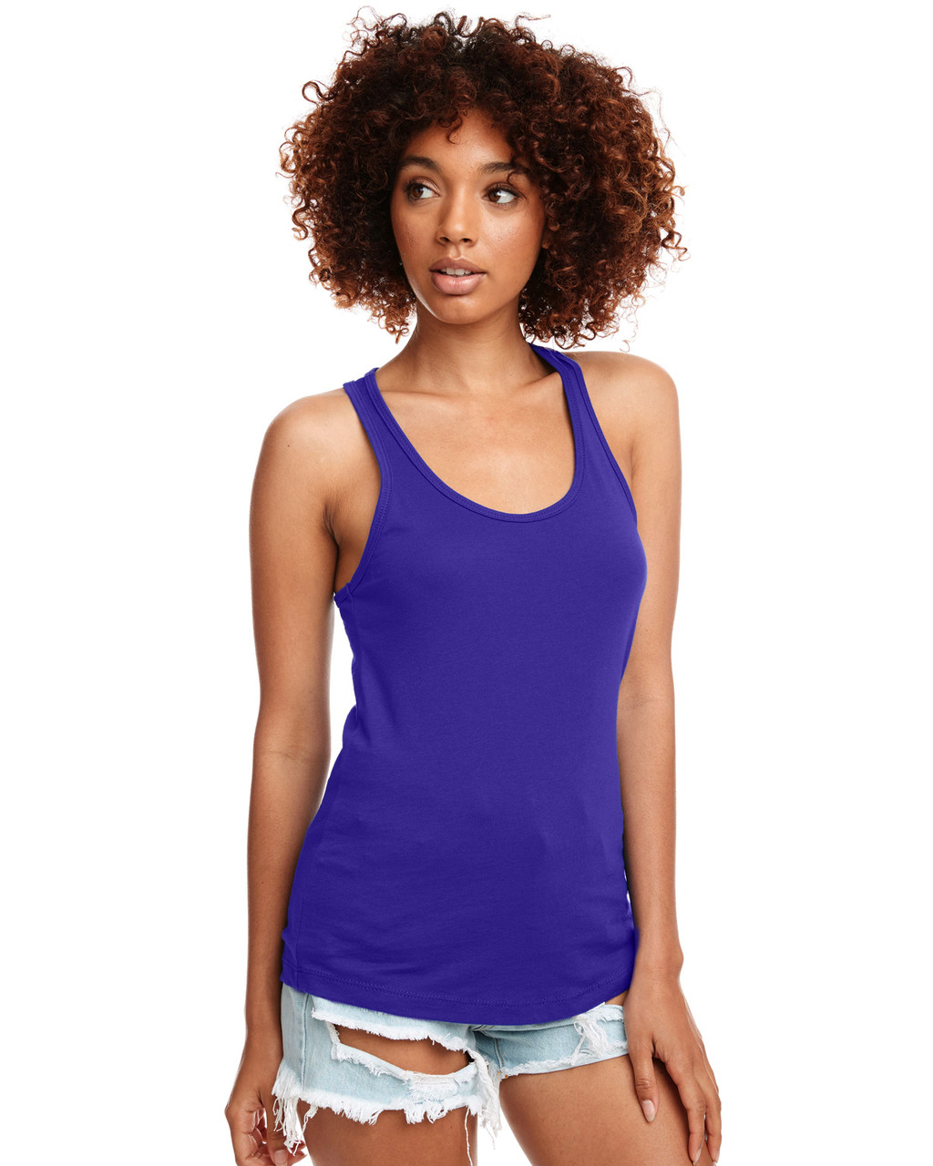 Purple - N1533 Next Level Ideal Racerback Tank Top | Blankclothing.ca