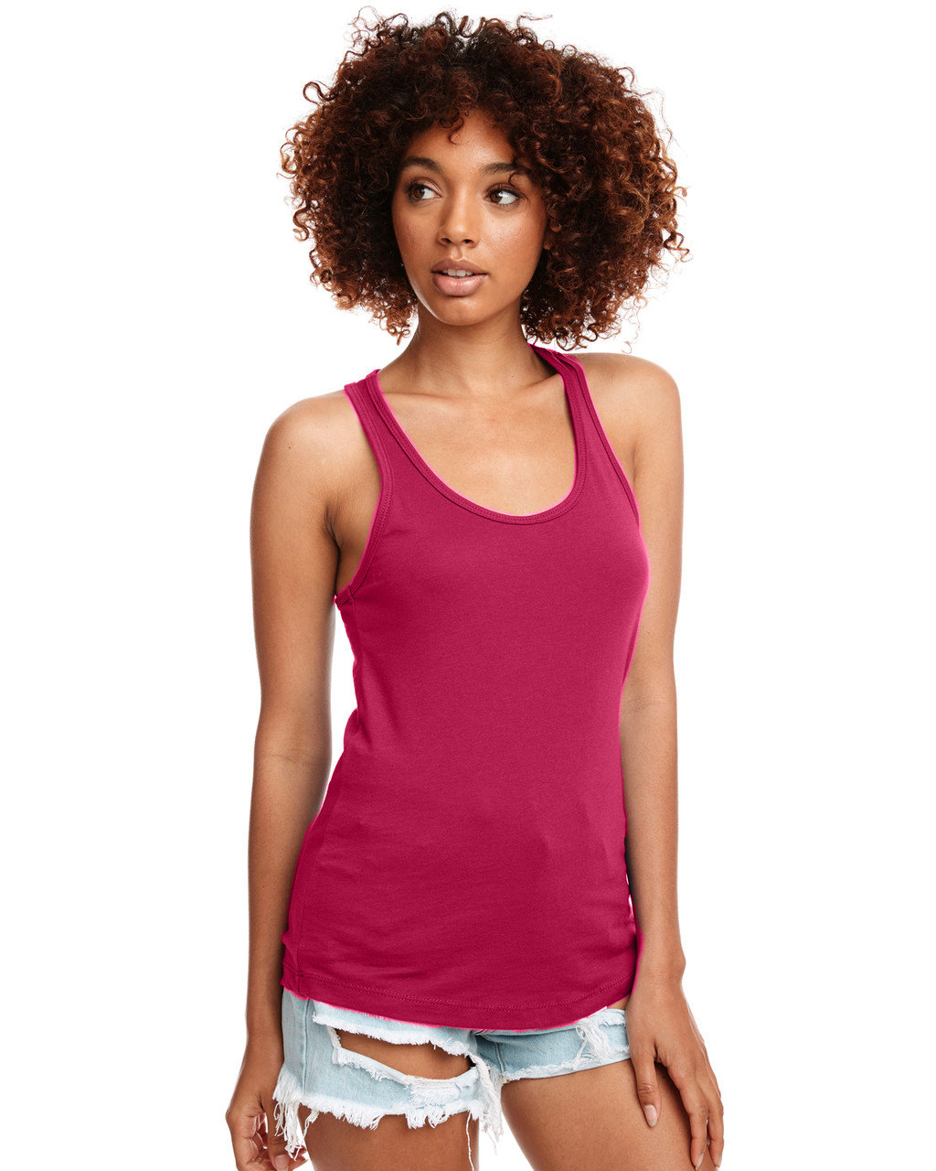 Raspberry - N1533 Next Level Ideal Racerback Tank Top | Blankclothing.ca