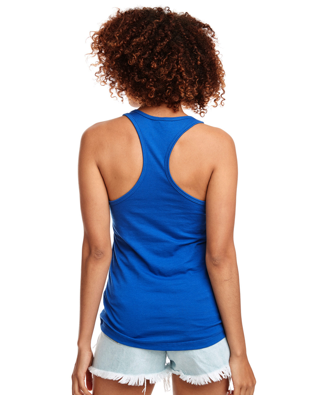 Royal - Back, N1533 Next Level Ideal Racerback Tank Top | Blankclothing.ca
