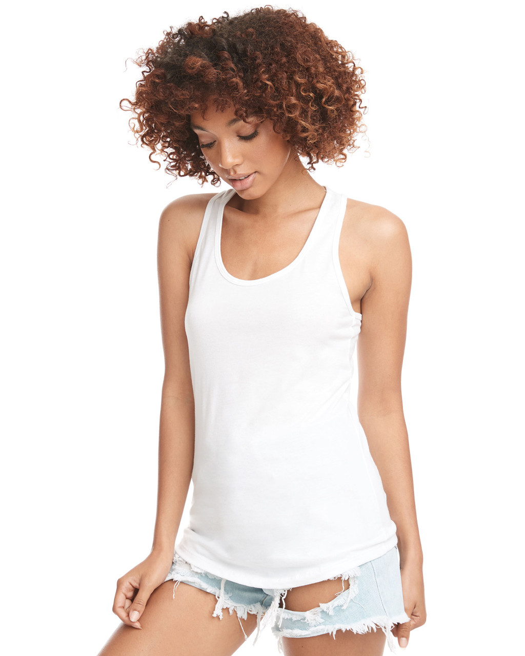 White - N1533 Next Level Ideal Racerback Tank Top | Blankclothing.ca