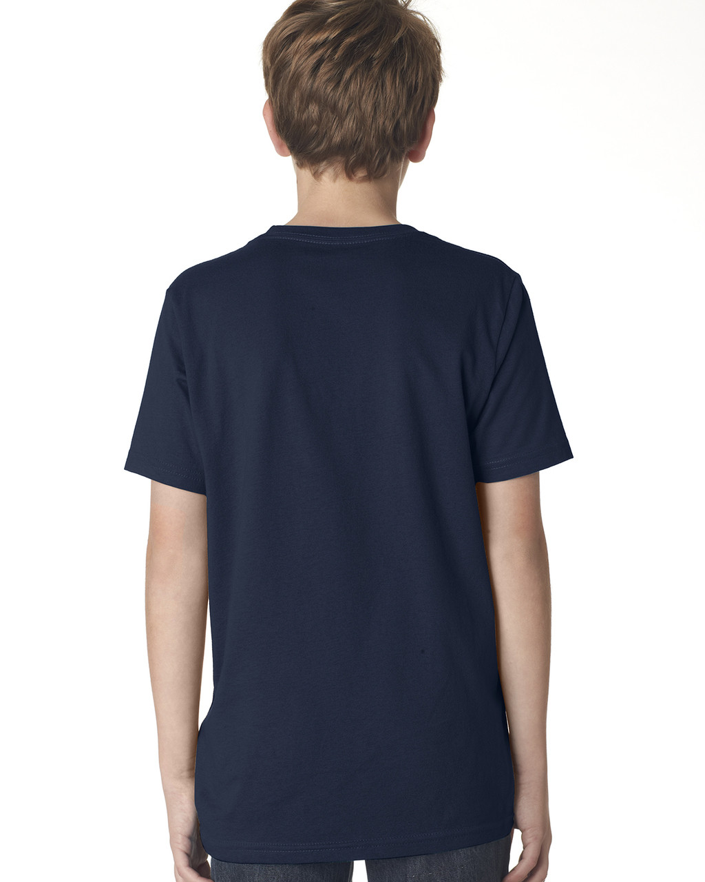 Midnight Navy, back 3310 Next Level Boys' Premium Crew Tee | Blankclothing.ca