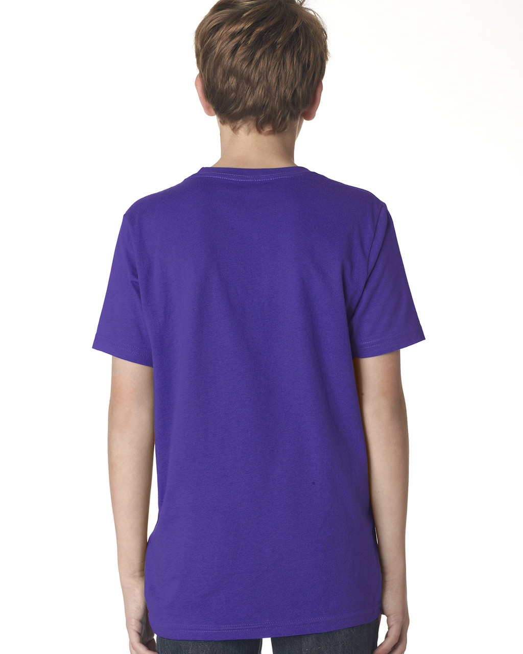 Purple Rush, back 3310 Next Level Boys' Premium Crew Tee | Blankclothing.ca