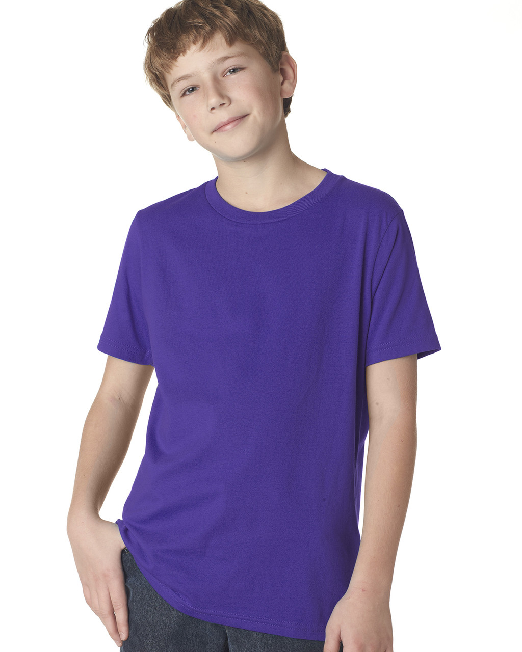 Purple Rush 3310 Next Level Boys' Premium Crew Tee | Blankclothing.ca