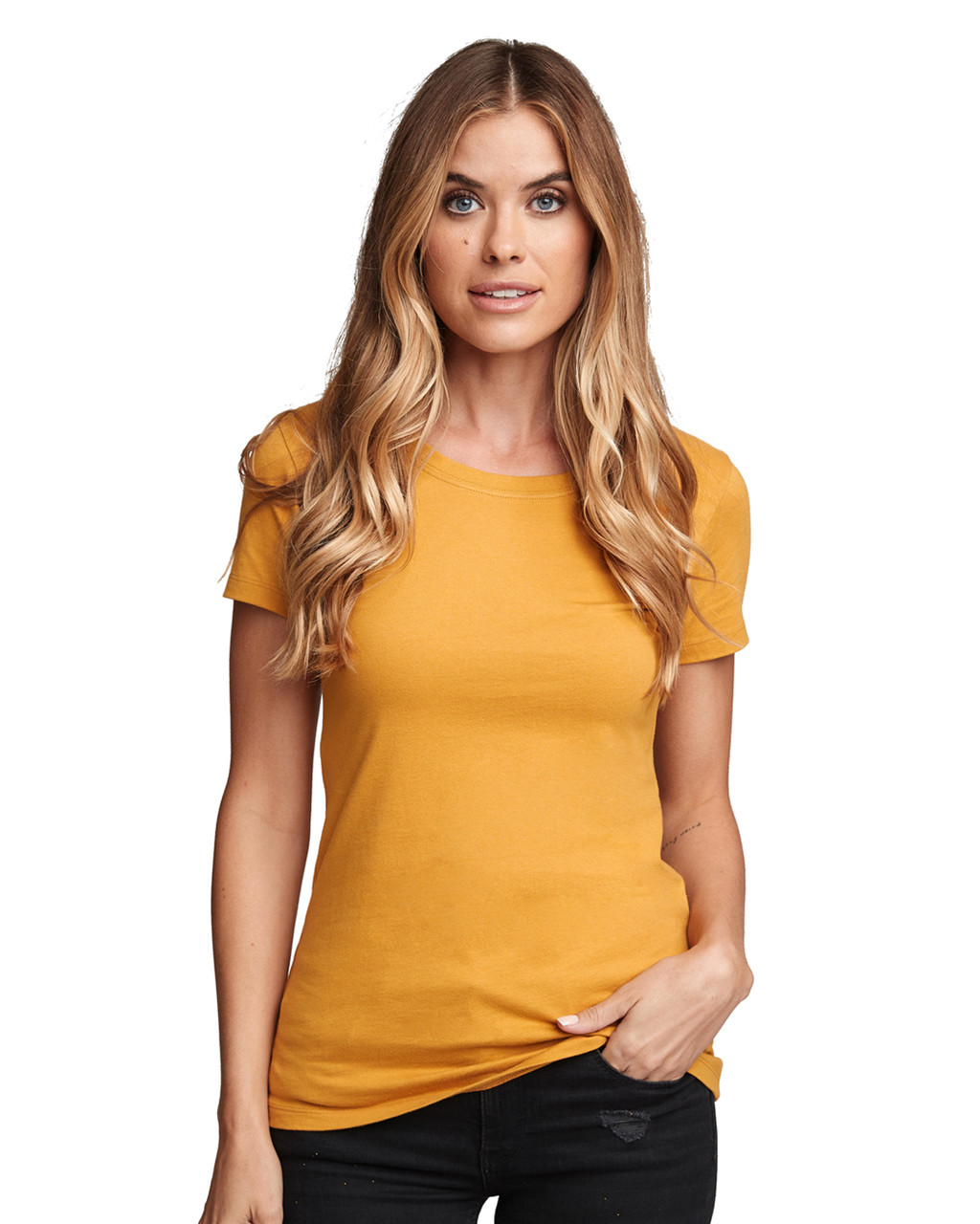 Antique Gold - N1510 Next Level Ladies' Ideal Short-Sleeve Crew Tee | Blankclothing.ca