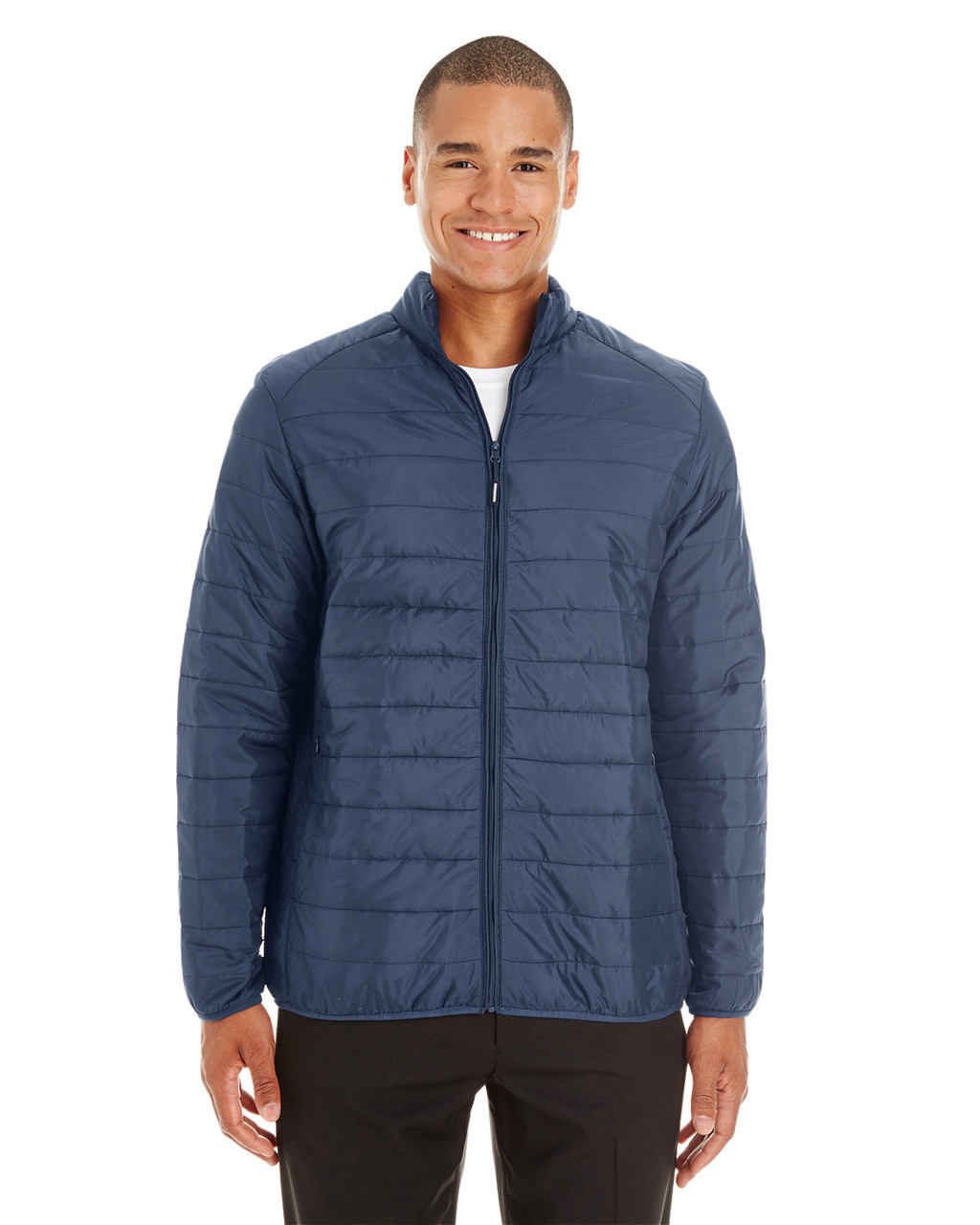 Classic Navy - CE700 Ash City - Core 365 Men's Prevail Packable Puffer Jacket | Blankclothing.ca